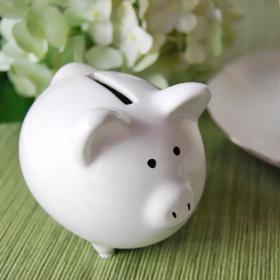 Piggy bank on Wedding table