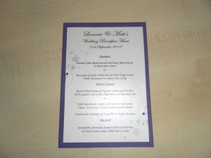 Leonnies menu