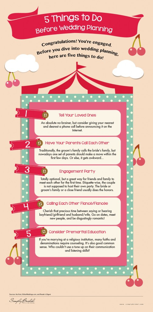 5 Things To Do Before Wedding Planning