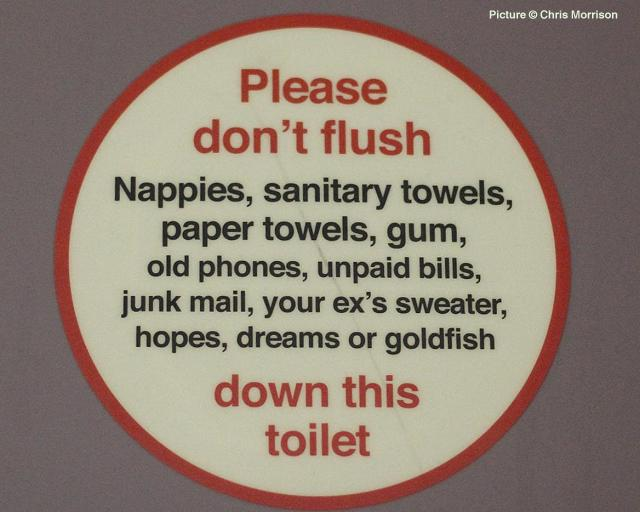 Virgin Train Toilet sign