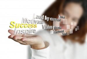 hand shows 3d metallic success diagram