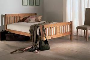wood bed two