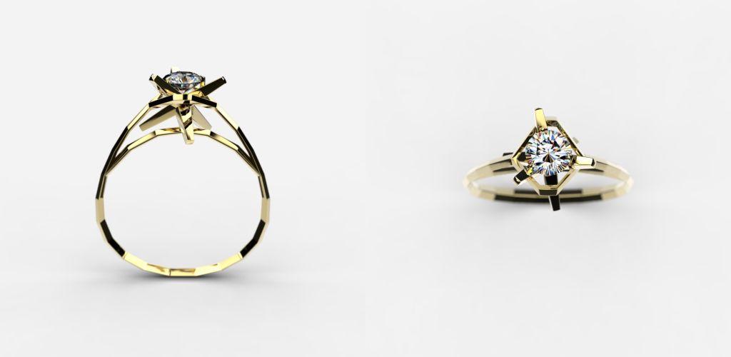 XiN - star signature ring 1.02 - £780