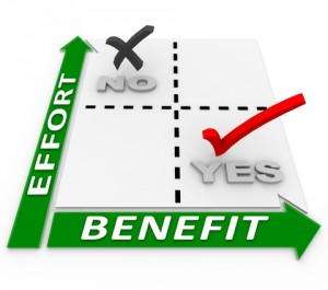 Effort Vs Benefit