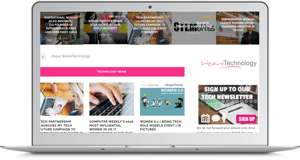 We are tech - women in IT homepage