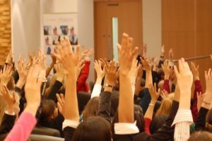 Show of hands at a WeAreTheCity Event