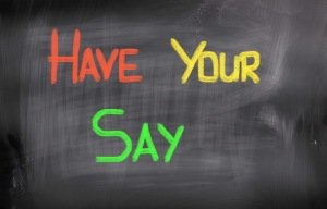 Have Your Say Concept