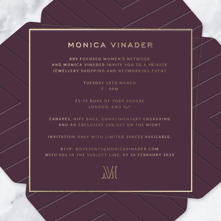 Monica Vinader invite