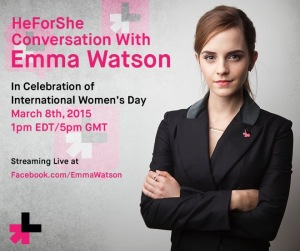 HeForShe Conversation with Emma Watson | A Solidarity Movement for Gender Equality @ London & Live stream