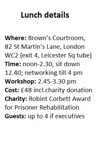 Lady Val's network lunch details