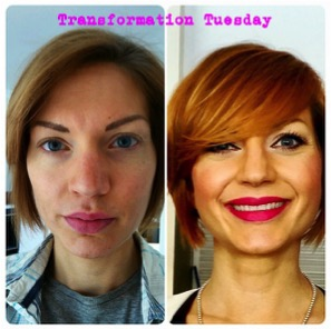 Transfromation tuesday makeup