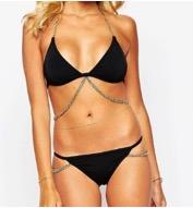 ASOS chain embellished drape triangle bikini