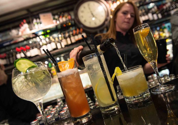 One Under Lime staff preparing cocktails