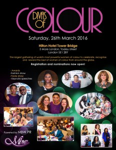 Divas of colour 2016 nomination flyer