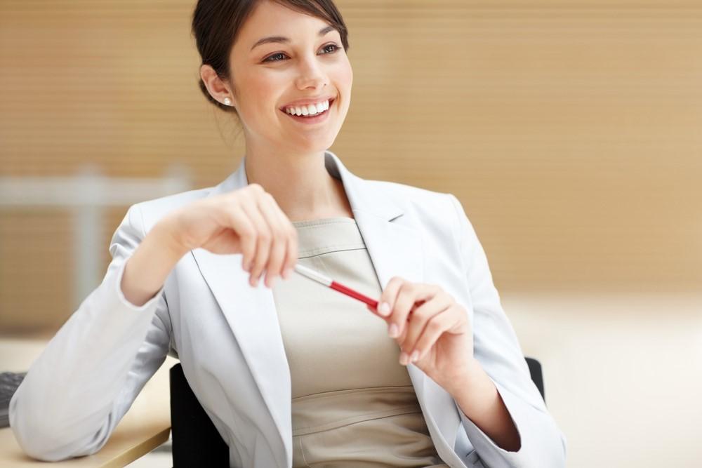 women with pen