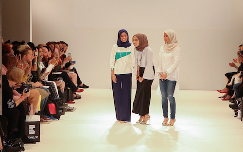 Zulkifli sisters celebrating a successful collection