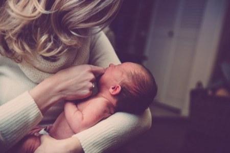 Working mum and child