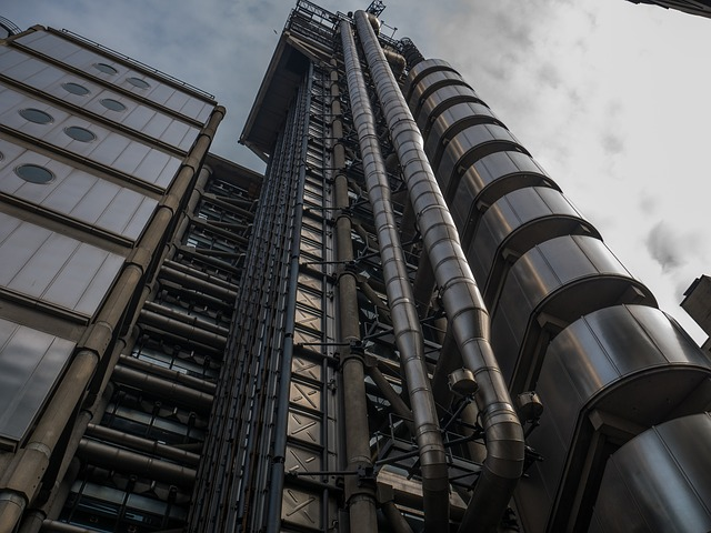 Lloyd's of London iconic building