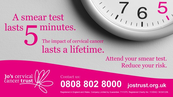 cervical cancer screening jo's trust poster