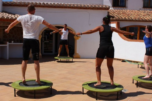 people working out at the D-Toxd retreat in Spain