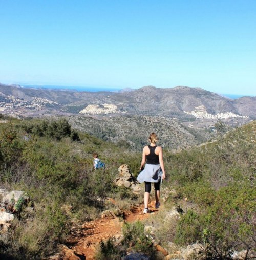 woman hiking in Spain at D-Toxd retreat