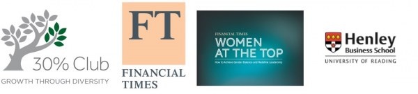 30%, FT and Women at the Top logos