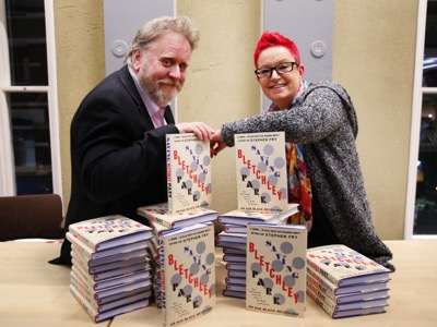 Stevyn Colgan & Sue Black pose with Saving Bletchley Park featured