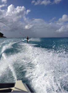 person water skiing in the sea show up and sparkle blog