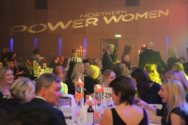 room atmosphere at the northern power women awards