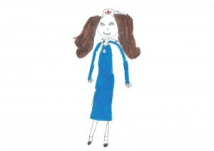 PageGroup Drawing of a female nurse