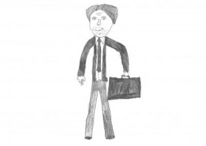 PageGroup Drawing of a male lawyer