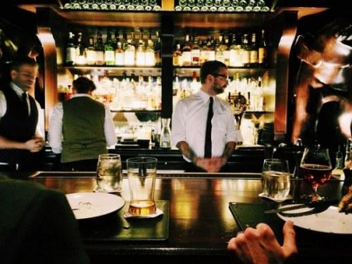 waiter at a bar, restaurant