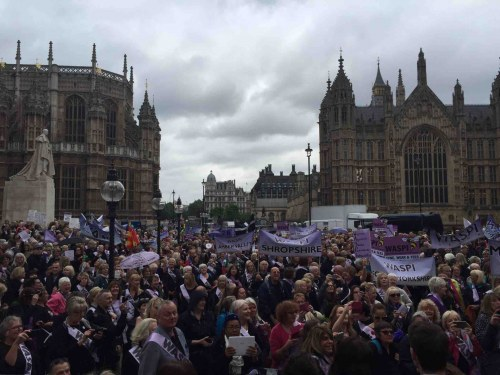 WASPI March on westminster, pension