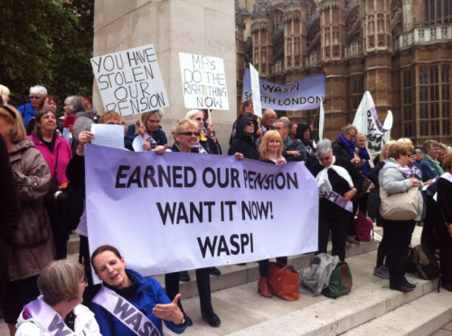 WASPI March, pension reforms