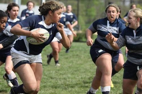women playing rugby, women's sport week