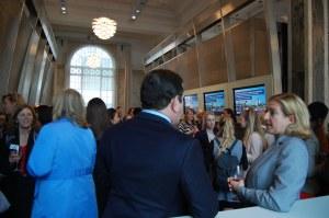 Guests network before America Merrill Lynch event Women Talk IT