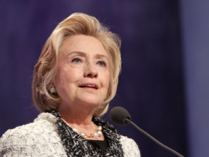 Hillary Clinton breaks through glass ceiling being named first woman to run for US President (F)