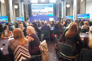 Attendees discuss women in security at Bank of America Merrill Lynch event