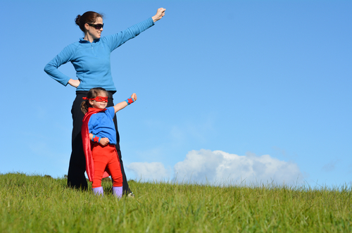 mother being a role model to daughter, girlguiding scotland