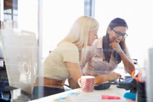 women supporting each other at work