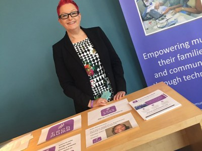 Dr Sue Black at her #techmums stand