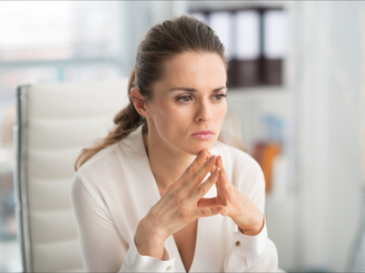 Businesswoman not being polite