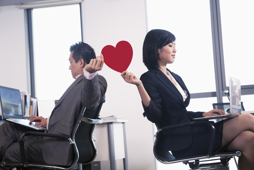 office romance, love at work