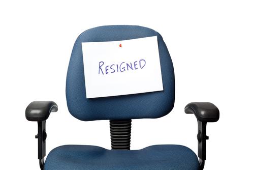 no leader, resigned quit