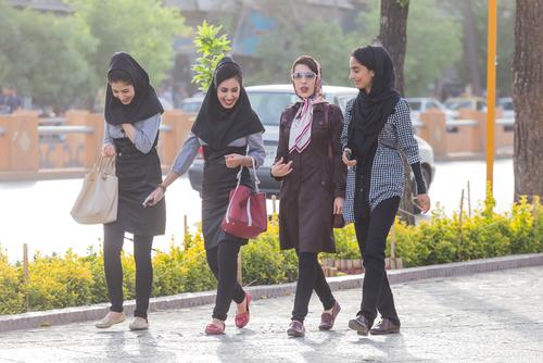 shuiranian women going to work