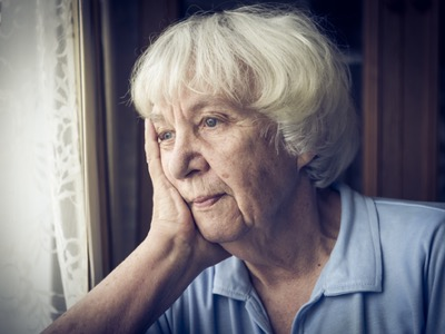 old woman sad about pensions featured