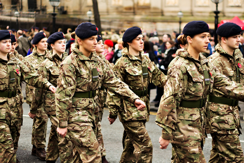 female soldiers, flexible working