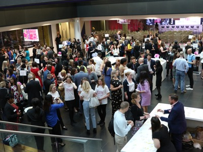 women networking at Rising Stars Shortlist celebration event featured