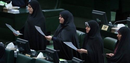 iran women in parliament, vice president