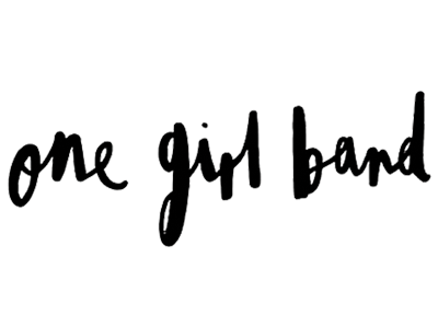 one girl band logo featured